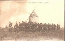 Colonne D'infanterie Allant Prendre Position-moulin - Guerre 1914-18