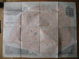 PLAN DE PARIS édité Par L'imprimerie CHAIX à Paris Pour Les Magasins Du BON MARCHE (Maison Aristide Boucicaut) - Roadmaps