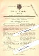 Original Patent - Rensch & Hauser In Wädenswil , 1882 , Herstellung Von Isolierteppichen , Wolle , Zürich !!! - ZH Zürich
