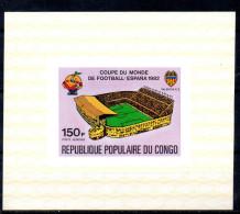 CONGO    Epreuve De Luxe   PA 283  * *  NON DENTELE   Cup 1982    Football  Soccer  Fussball Stade - Coppa Del Mondo