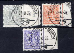 BELGIQUE - N° 1897/1899° - LION HERALDIQUE - Used Stamps