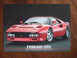 FERRARI GTO Car Carte Postale - Passenger Cars