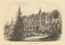 Image Gravure - Entre-Sambre-et-Meuse, Château De Chimay (verso: Ruines De Sautour) - Non Classés