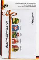 EXTRA Sonderblatt MH Zur Porto-Anpassung 1990 BRD GH 1 ** 18€ Wappen Neuer Deutschland-Länder Waps Documentation Germany - [7] République Fédérale