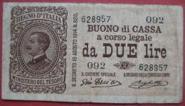 2 / Due Lire 1914 (WPM 37b) Ausg 1917 Serie 092 - [ 5] Schatzamt