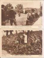 Messe Aux Tranchées -deux Cartes -secteur Belge De L'yser - Guerre 1914-18