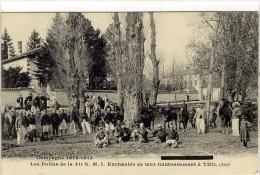 Carte Postale Ancienne Thil - Les Poilus De La 41e S.M.I. Enchantés De Leur Cantonnement - Militaires, Casernes - Autres Communes