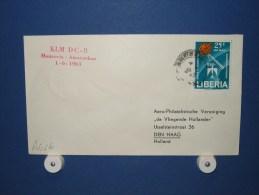FFC First Flight 228 Monrovia Liberia - Amsterdam 1963 - A626b (nr.Cat DVH) - Liberia
