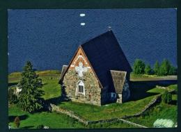 FINLAND  -  Satamala Church  Used Postcard As Scans - Finlande