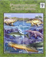 Guyana 2001 Sheet/6 Dinosaurs Prehistoric-Icthyostega #3667 - Guyana (1966-...)