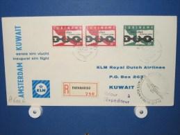 FFC First Flight 237 Amsterdam - Kuwait / Koeweit 1963 - A632b (nr.Cat DVH) - Koeweit