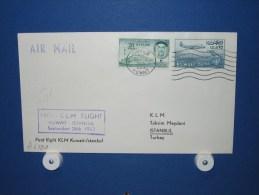 FFC First Flight 239 Kuwait / Koeweit - Istanbul Turkije 1963 - A633a (nr.Cat DVH) - Koeweit