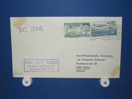 FFC First Flight 240 Kuwait / Koeweit - Amsterdam 1963 - A633b (nr.Cat dVH)