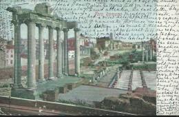 ROMA - FORO  ROMANO - VIAGGIATA - VARIE  IMPERFEZIONI  LIEVI - SCRITTA  SUL  DAVANTI - - Viste Panoramiche, Panorama