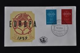 1 ++ BELGIUM FDC 1959 OBP Serie 1111-12 EUROPA(3) - FDC