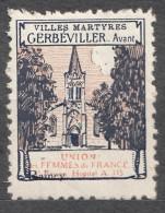 Croix Rouge - Les Villes Martyres Single Item - Commemorative Labels