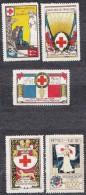 Croix Rouge - Rouen, WWI Era - Commemorative Labels