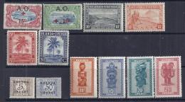 Ruanda-Urundi YT 36, 37, 92, 93, 126, 129, 154 � 157, Taxe 9 et 12 neufs*.