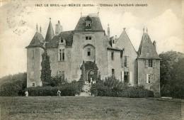 Le Breil Sur Merize Chateau De Peschere (devant) - Francia