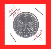 ALEMANIA R.F. MONEDA DE  5.00 DM -AÑO 1959-CECA-J - [ 7] 1949-… : RFA - Rép. Féd. D'Allemagne