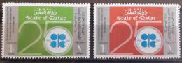Q23 Qatar 1985 SG 792-793 Complete Set MNH - 25th Anniv Of Organization Of Petrolium Exporting Countries, OPEC, Oil - Qatar