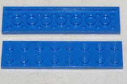 PLAQUE BLEU PLAT FINE 2 X 8 LEGO ANCIEN 1967 - Lego System
