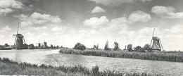 Kinderdijk, Hollandse Molen   (dubbele Kaart) (glansfotokaart) - Kinderdijk