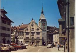 ZUG - Kolinplatz M. Stadhaus Und Zytturm,  Gel. 1977 - ZG Zoug