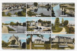 (RECTO - VERSO) CHATEAU GONTIER - MULTIVUES FORMAT CPA - Chateau Gontier