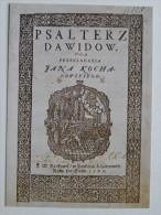 Incunabula Incunables 16 Century  Kochanowski Psautier Dawidow Cracow Library  Poland - Libraries