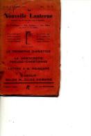 1929 LA NOUVELLE LANTERNE  LETTRE A POINCARE LE DEMOCRATIE PSEUDO CHRETIENNE - 1901-1940