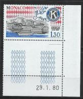"Monaco YT 1230 "" Kiwanis International "" 1980 Neuf** BDF Daté - Mónaco"