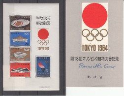 OLYMPISCHE SPIELE-OLYMPIC GAMES, Japan, 1964, Special Card And Stamps, MNH !! - Summer 1964: Tokyo