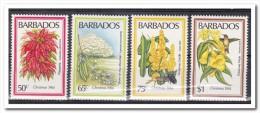 Barbados 1984, Postfris MNH, Flowers, Christmas - Barbados (1966-...)