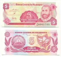 Nicaragua 5 Centavos 1991 Pick-168 UNC - Nicaragua