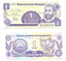 Nicaragua 1 Centavo 1991 Pick-167 UNC - Nicaragua