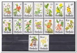 Barbados 1989, Postfris MNH, Plants, Cacti, Flowers - Barbados (1966-...)