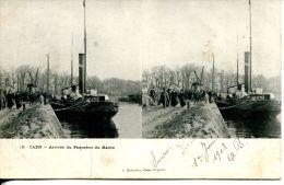 N°3436A -cpa Caen -arrivée Du Paquebot Du Havre- - Stereoscope Cards