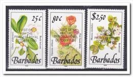 Barbados 1990, Postfris MNH, Flowers, Cacti With Overprint Princes Anne - Barbados (1966-...)