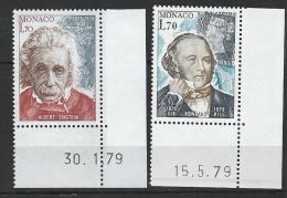 """Monaco YT 1202 Et 1203 """" Personnalités """" 1979 Neuf** BDF Daté - Unused Stamps"""