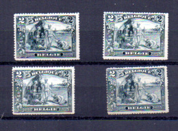 Congo, Camp Antiesclavagiste, 4 X 146 * (dent Irrégulière + 1pt Rouille), Cote 420 € - Neufs
