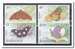 Barbados 1983, Postfris MNH, Flowers, Butterflies - Barbados (1966-...)