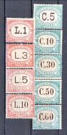 San Marino Tasse 1897-1919 Colori Verde E Rosa N. 1 - 9 MNH - Segnatasse