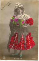 Ref E768-artiste-la Criolla -espagnole -espagne- Espana  /- Veritables Paillettes Dorées , Argentées - Carte Bon Etat - - Artistes