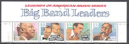 United States 1996 Big Band Leaders - Sc # 3096-99 - Mi.2760-63 Strip Of 4 - Used - United States