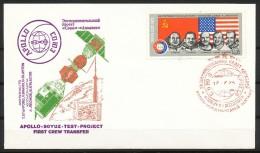 Sowjetunion -  FDC  -  Mi.Nr:   4371  - Amerikanisch-sowjetisches Raumfahrtunternehmen Apollo-Sojus  Gestempelt - 1923-1991 USSR
