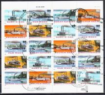 United States 1996 Riverboats - Sc # 3091-95 - Mi.2755-59 - Used - Blocks & Sheetlets