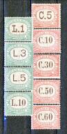 San Marino Tasse 1924 Colori Carminio E Verde Serie N. 10 - 18 MNH - Segnatasse