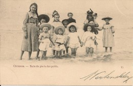 Oostende-Ostende- Bain De Pieds Des Petits. - Oostende