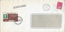 ORLY AEROGARE VAL DE MARNE 9/3/1971 Bequet Vignette Anglaise Post Office Special Mail Cachet Post Office Strike 8/3/71 - Maschinenstempel (Werbestempel)
